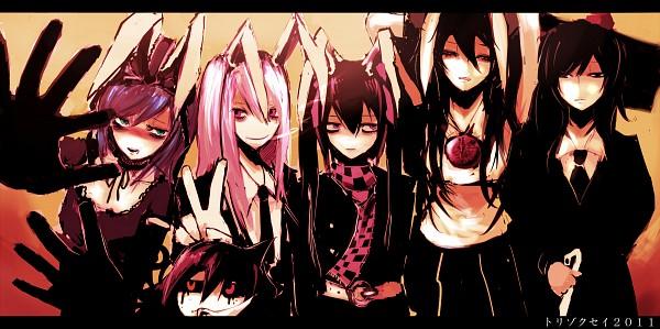 Tags: Anime, 31 Violence, Touhou, Himekaidou Hatate, Kagiyama Hina, Hata-tan, Houjuu Nue, Reisen Udongein Inaba, Kuma-hina, Reiuji Utsuho, Shameimaru Aya, Pixiv, Fanart From Pixiv