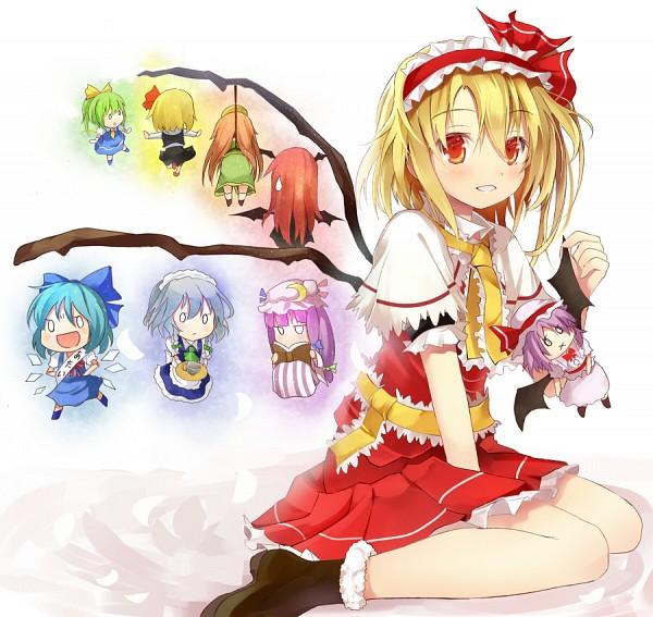 Tags: Anime, Efe, The Embodiment of Scarlet Devil, Touhou, Hong Meiling, Remilia Scarlet, Rumia, Cirno, Flandre Scarlet, Koakuma, Patchouli Knowledge, Daiyousei, Izayoi Sakuya