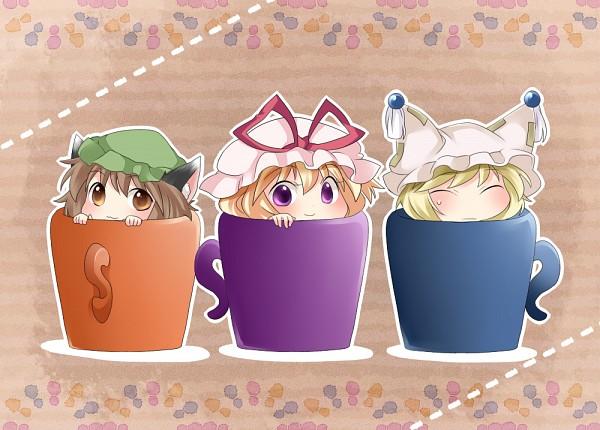 Tags: Anime, Hammer (Sunset Beach), Touhou, Chen, Yakumo Ran, Yakumo Yukari