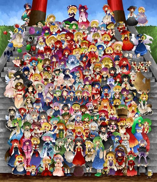 Tags: Anime, Hammer (Sunset Beach), Touhou, Seihou, Fujiwara no Mokou, Lily White, Hourai, Izayoi Sakuya, Shinki, Toramaru Shou, Kurumi (Touhou), The 5 Magic Stones, Moriya Suwako