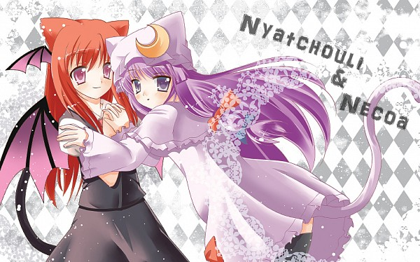 Tags: Anime, 15 (Tooka), Touhou, Patchouli Knowledge, Koakuma, Fanart From Pixiv, Fanart, Pixiv, PatcheKoa