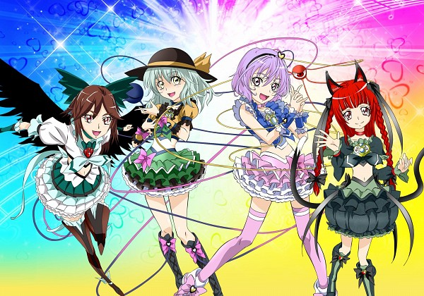 Tags: Anime, Pixiv Id 186963, Touhou, Komeiji Satori, Komeiji Koishi, Kaenbyou Rin, Reiuji Utsuho, Pretty Cure Series (Cosplay), Pretty Cure Series (Parody), Pixiv, Fanart, Fanart From Pixiv