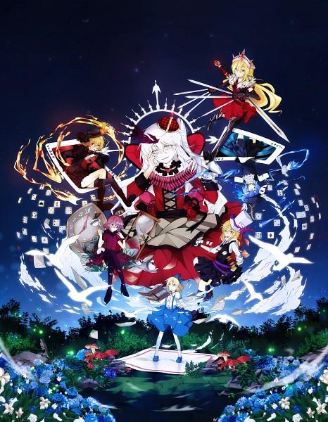 Tags: Anime, Alx-z, Mystic Square, Touhou, Sara (Touhou), Alice Margatroid (Young), Yumeko, Luize, Yuki (Touhou), Shinki, Mai (Touhou), Alice Margatroid, Alice in Wonderland (Parody)