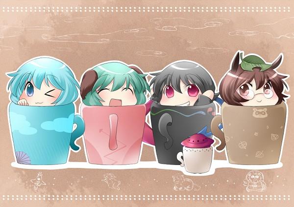 Tags: Anime, Hammer (Sunset Beach), Touhou, Houjuu Nue, Tatara Kogasa, Futatsuiwa Mamizou, Kasodani Kyouko, Spaceship, UFO