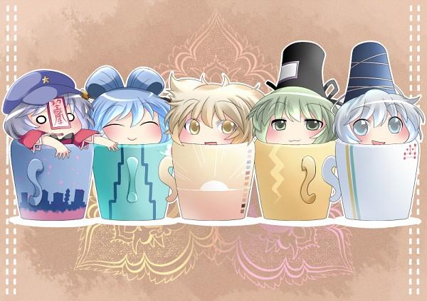 Tags: Anime, Hammer (Sunset Beach), Ten Desires, Touhou, Toyosatomimi no Miko, Kaku Seiga, Miyako Yoshika, Soga no Tojiko, Mononobe no Futo