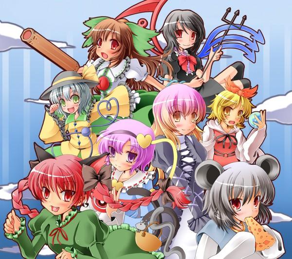 Tags: Anime, Yuzu Izumi, Touhou, Komeiji Satori, Houjuu Nue, Komeiji Koishi, Toramaru Shou, Kaenbyou Rin, Hijiri Byakuren, Reiuji Utsuho, Nazrin