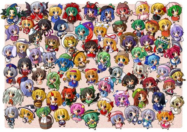 Tags: Anime, Touhou, Onozuka Komachi, Toramaru Shou, Kirisame Marisa, Lyrica Prismriver, Yakumo Ran, Inaba Tewi, Sunny Milk, Wriggle Nightbug, Shiki Eiki, Ibuki Suika, Patchouli Knowledge