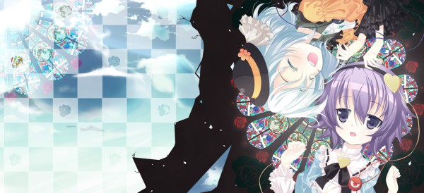 Tags: Anime, Touhou, Komeiji Satori, Komeiji Koishi, Stained Glass