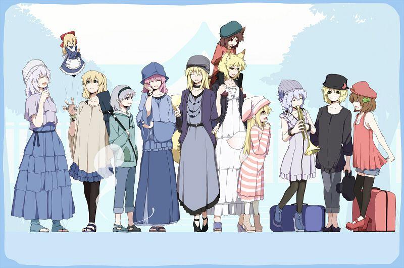Tags: Anime, 0-1-0, Touhou, Perfect Cherry Blossom, Chen, Shanghai, Alice Margatroid, Letty Whiterock, Yakumo Ran, Myon, Merlin Prismriver, Saigyouji Yuyuko, Lyrica Prismriver