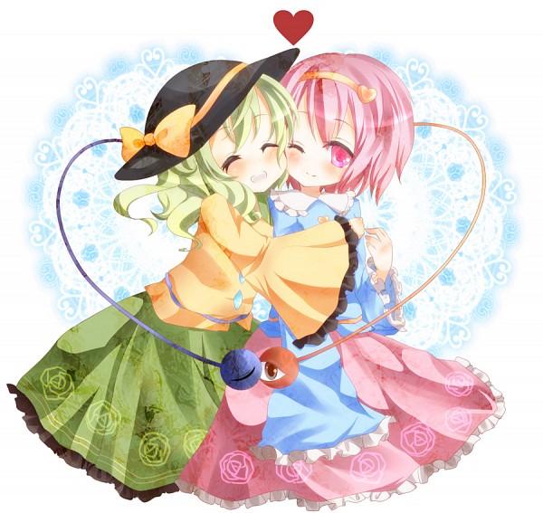 Tags: Anime, Kasupi, Touhou, Komeiji Koishi, Komeiji Satori, Cheeks Together, Fanart From Pixiv, Fanart, Pixiv, SatoKoi