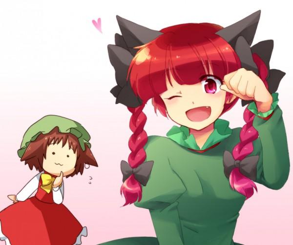 Tags: Anime, Touhou, Kaenbyou Rin, Chen