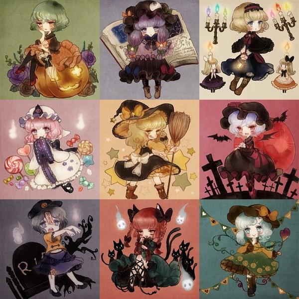 Tags: Anime, YuJuP, Touhou, Komeiji Koishi, Alice Margatroid, Kaenbyou Rin (Cat), Kaenbyou Rin, Remilia Scarlet, Shanghai, Saigyouji Yuyuko, Miyako Yoshika, Kirisame Marisa, Kazami Yuuka