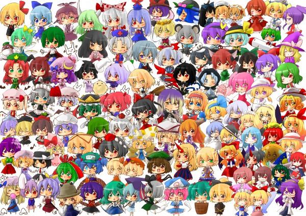 Tags: Anime, Touhou, Fujiwara no Mokou, Aki Minoriko, Elis, Remilia Scarlet, Shinki, Unzan, Konngara, Flandre Scarlet, Merlin Prismriver, Shanghai, Reiuji Utsuho