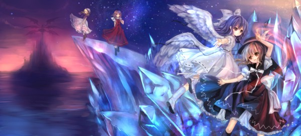 Tags: Anime, Torii Sumi, Touhou, Shinki, Mai (Touhou), Sara (Touhou), Luize, Yuki (Touhou), PC-98 Touhou Era, Pixiv