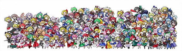 Tags: Anime, Hemogurobina1c, Touhou, Yakumo Yukari, Shiki Eiki, Shingyoku, Kasodani Kyouko, Inubashiri Momiji, Letty Whiterock, Sariel, Hakurei Reimu (Classic), Komeiji Koishi, Kurodani Yamame