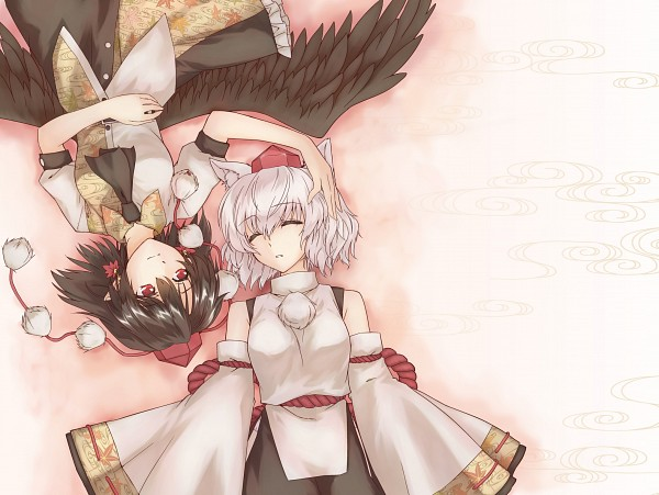 Tags: Anime, Abo, Touhou, Shameimaru Aya, Inubashiri Momiji, Fanart From Pixiv, Fanart, Pixiv, AyaMomi