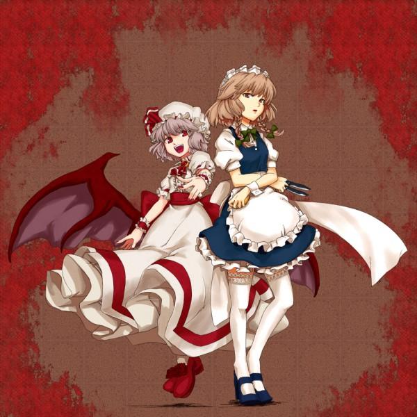 Tags: Anime, Touhou, Izayoi Sakuya, Remilia Scarlet