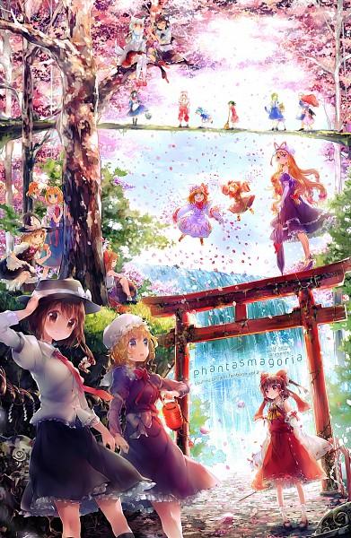 Tags: Anime, Namie-kun, Touhou, Lily Black, Lily White, Cirno, Kochiya Sanae, Shanghai, Izayoi Sakuya, Fujiwara no Mokou, Hakurei Reimu, Moriya Suwako, Ibuki Suika