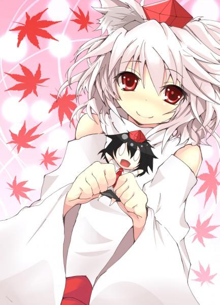 Tags: Anime, Hinata Sora, Touhou, Shameimaru Aya, Inubashiri Momiji, Pixiv, Fanart From Pixiv, Fanart