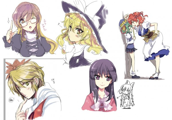 Tags: Anime, Nakayama Miyuki, Touhou, Houraisan Kaguya, Toramaru Shou, Fujiwara no Mokou, Hijiri Byakuren, Kirisame Marisa, Shiki Eiki, Onozuka Komachi