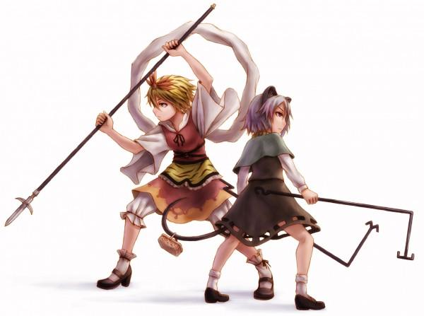 Tags: Anime, Kurione (Zassou), Touhou, Nazrin, Toramaru Shou