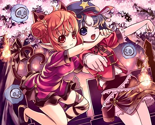 Tags: Anime, Gorota, Touhou, Miyako Yoshika, Kaenbyou Rin, Fanart, Fanart From Pixiv, Pixiv