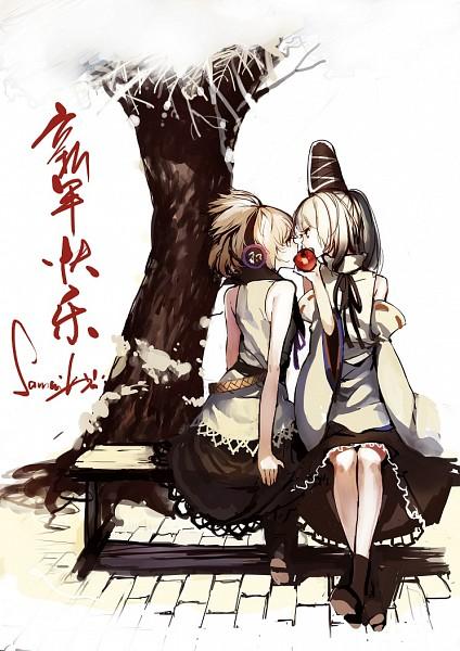 Tags: Anime, Lia-sama, Touhou, Mononobe no Futo, Toyosatomimi no Miko, Fanart, Fanart From Pixiv, Mobile Wallpaper, Pixiv, FutoMiko