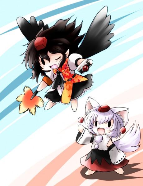 Tags: Anime, Touhou, Shameimaru Aya, Inubashiri Momiji