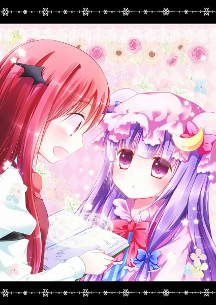 Tags: Anime, Murasaki-neko, Touhou, Patchouli Knowledge, Koakuma, PatcheKoa