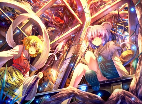 Tags: Anime, ryosios, Touhou, Toramaru Shou, Nazrin, PNG Conversion, Fanart, Pixiv, Touhou Project