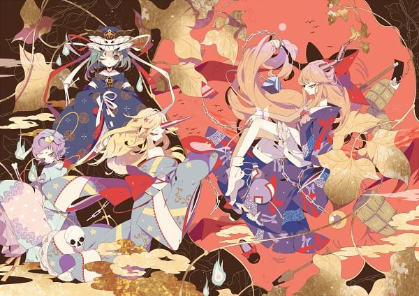 Tags: Anime, Shikimi, Touhou, Shiki Eiki, Hoshiguma Yuugi, Komeiji Satori, Ibuki Suika, Pixiv, Fanart, Fanart From Pixiv