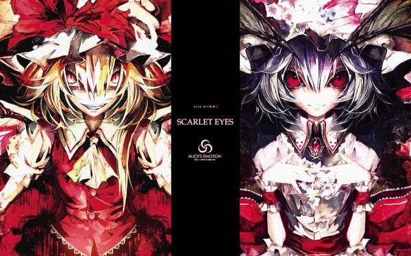 Tags: Anime, Banpai Akira, ALiCE'S EMOTiON, Touhou, Flandre Scarlet, Remilia Scarlet, Comic Market 74, Wallpaper, SCARLET EYES, Pixiv