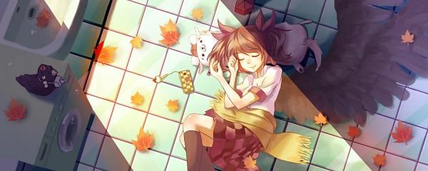 Tags: Anime, Pixiv Id 2319682, Touhou, Shameimaru Aya, Inubashiri Momiji, Shameimaru Aya (Crow), Himekaidou Hatate