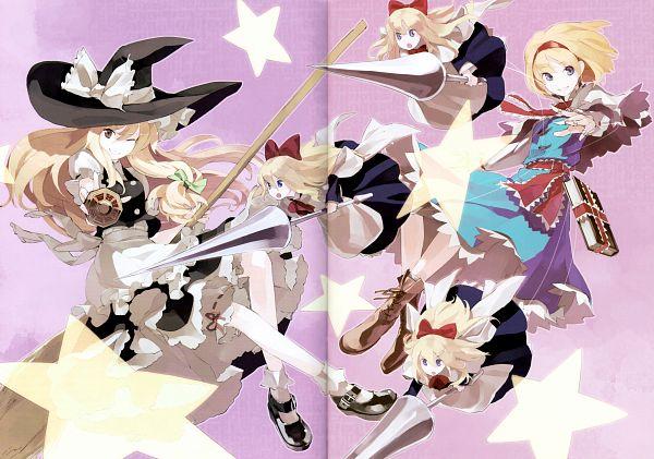 Tags: Anime, Shihou (g-o-s), Touhou Yuu Gajou Ni, Touhou, Shanghai, Alice Margatroid, Kirisame Marisa, Crease, Mini-Hakkero, Fanart, Comic Market 81, Scan, Comic Market