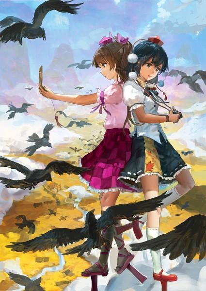 Tags: Anime, November☆, Touhou, Himekaidou Hatate, Shameimaru Aya, Fanart