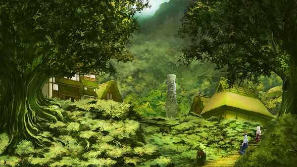 Tags: Anime, Pixiv Id 2263353, Touhou, Kamishirasawa Keine, Fujiwara no Mokou, Shameimaru Aya, Fanart, HD Wallpaper, Facebook Cover, Wallpaper