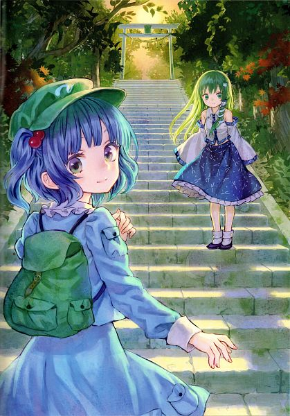 Tags: Anime, Amatou, Sugar And Spice, Touhou, Kawashiro Nitori, Kochiya Sanae, Comic Market 85, Scan, Comic Market, Fanart