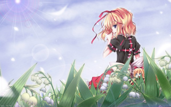 Tags: Anime, Touhou, Medicine Melancholy, Su-san, Lily Of The Valley, Wallpaper, HD Wallpaper
