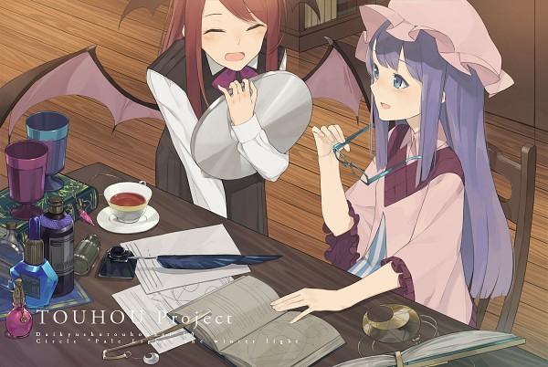 Tags: Anime, Hayashi Kewi, Touhou, Koakuma, Patchouli Knowledge, Fanart From Pixiv, PNG Conversion, Fanart, Pixiv, PatcheKoa