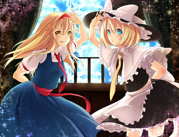 Tags: Anime, Pixiv Id 836683, Touhou, Alice Margatroid, Kirisame Marisa, Kirisame Marisa (Cosplay), Alice Margatroid (Cosplay), Touhou (Cosplay), Fanart, Pixiv, Fanart From Pixiv, PNG Conversion