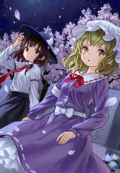 Tags: Anime, Amatou, Oshidori, Touhou, Usami Renko, Maribel Hearn, Fanart, Mobile Wallpaper, Comic Market 88, Pixiv, Fanart From Pixiv