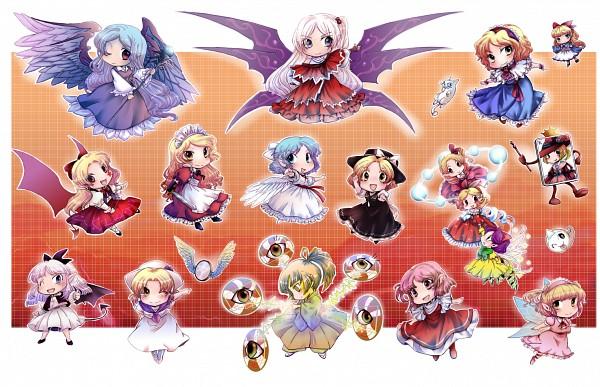 Tags: Anime, Mad-tuna, Touhou, Luize, Sariel, Rengeteki, Yuki (Touhou), Yumeko, Mai (Touhou), Shinki, Bakebake, Elis, Alice Margatroid