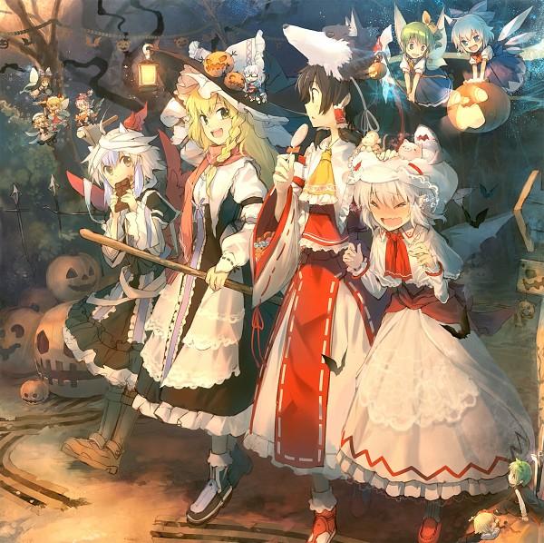 Tags: Anime, Eho, Touhou, Morichika Rinnosuke, Cirno, Star Sapphire, Wriggle Nightbug, Hakurei Reimu, Sunny Milk, Rumia, Tokiko (Touhou), Mystia Lorelei, Remilia Scarlet