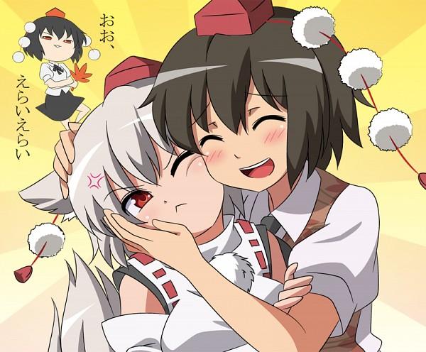 Tags: Anime, Taishi (Moriverine), Touhou, Inubashiri Momiji, Shameimaru Aya, Yukkuri, PNG Conversion, Fanart, Pixiv, Fanart From Pixiv, AyaMomi