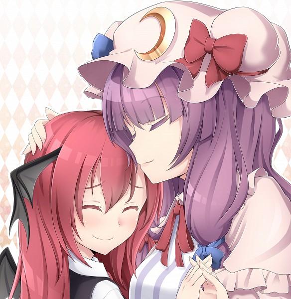 Tags: Anime, Nogisaka Kushio, Touhou, Patchouli Knowledge, Koakuma, Fanart From Pixiv, Fanart, Pixiv, PatcheKoa