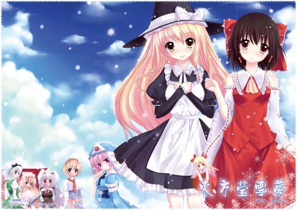 Tags: Anime, Tsukimiya Kamiko, Touhou, Kirisame Marisa, Saigyouji Yuyuko, Hakurei Reimu, Konpaku Youmu, Yakumo Yukari, Alice Margatroid, Reisen Udongein Inaba
