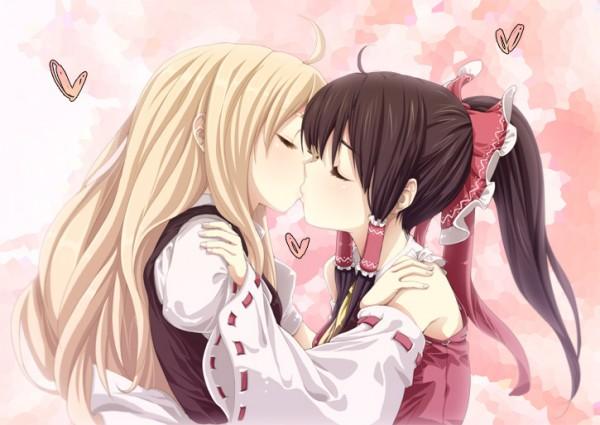 Tags: Anime, Buriki, Touhou, Kirisame Marisa, Hakurei Reimu, Pixiv, ReiMari
