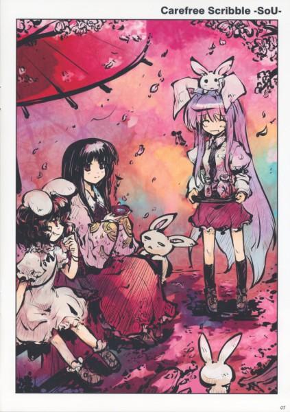 Tags: Anime, Tokiame, Touhou, Reisen Udongein Inaba, Houraisan Kaguya, Inaba Tewi