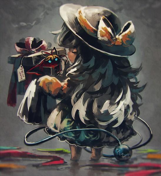 Tags: Anime, Koto Inari, Touhou, Komeiji Koishi, Medicine Melancholy, Dark Colors, Fanart From Pixiv, PNG Conversion, Fanart, Pixiv