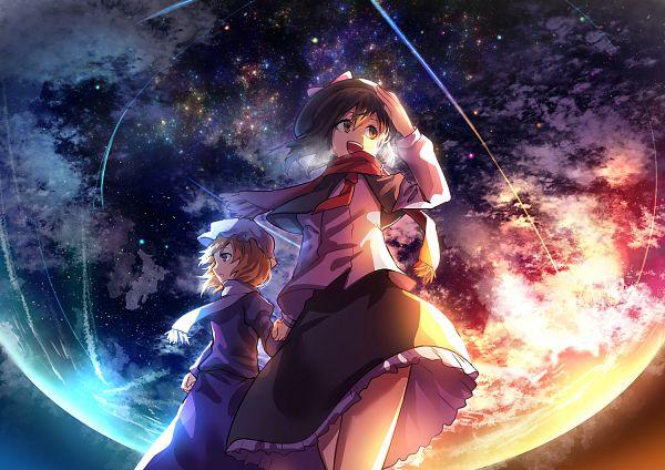 Tags: Anime, Kumorix, Touhou, Maribel Hearn, Usami Renko, Pixiv, Fanart From Pixiv, PNG Conversion, Fanart